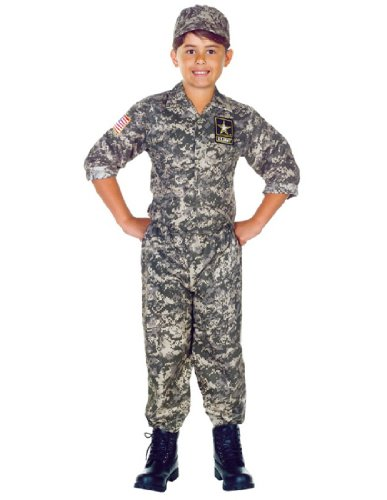 Camouflage Halloween Costumes (Underwraps Big Boy's Children's Army Camo Costume Set - Large Childrens Costume, camouflage, Large)