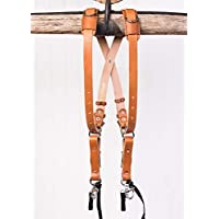 Holdfast Gear Skinny Money Maker | Two Camera Harness | Bridle Leather | Original (Medium, Black)