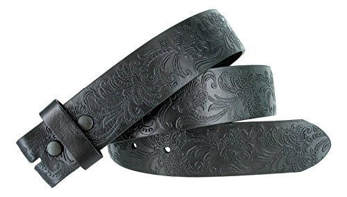 BS036 Western Floral Engraved Tooling Full Grain Leather Belt Strap 1.5