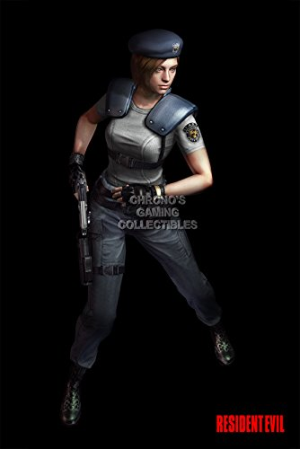 """Price comparison product image CGC Huge Poster - Resident Evil Jill Valentine 6 5 4 3 2 Revelations Origins Collection Code Veronica X PS1 PS2 PS3 N65 GameCube Wii U - EXT300 (24"""" x 36"""" (61cm x 91.5cm))"""