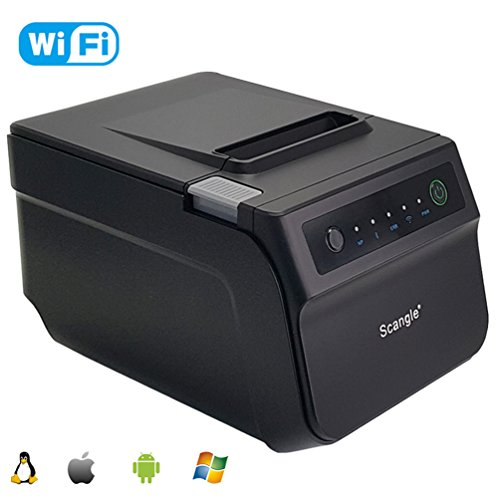 80MM Wireless WIFI Thermal Printer - Scangle Thermal Receipt POS Printer With Auto Cutter - Can Print 80MM & 58MM Width Thermal Paper. - Sec Parallel Serial