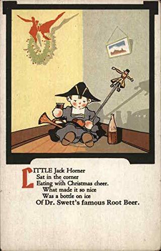 Vintage Advertising Postcard: Dr. Swett's Famous Root Beer - Little Jack Horner Boston, Massachusetts from CardCow Vintage Postcards