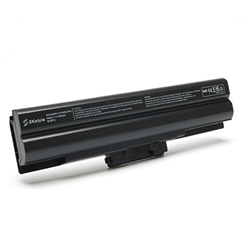 SKstyle 6 Cell Laptop Battery Replacement for Sony Vaio VGP-BPS13 VGP-BPL13 VGP-BPS13A/B VGP-BPS13B/S - Sony Vaio Battery Bps13