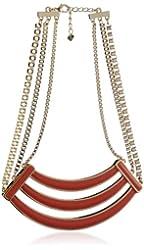 Belle Noel Coral Enameled Collar Necklace