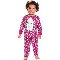 Pijama Infantil Menina Manga Longa Peguin Rosa