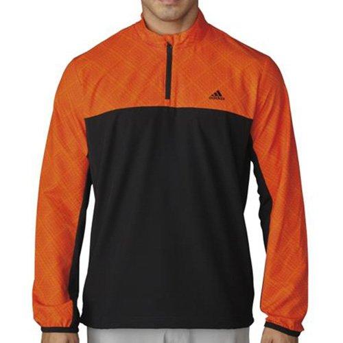Performance 1/2 Zip Pullover Jacket - Adidas Mens Performance Stretch 1/2 Zip Wind Jacket Orange L