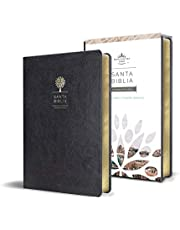 Biblia Reina Valera 1960 letra grande. Símil piel color negro, tamaño manual / Spanish Holy Bible RVR 1960. Handy Size, Large Print, Black Leathersoft (Spanish Edition)