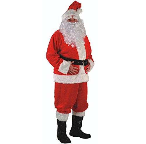 Rubie's Deluxe Regal Santa Claus Suit, Red, Standard -