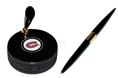 Montreal Canadiens Hockey Puck NHL Desk Pen Holder