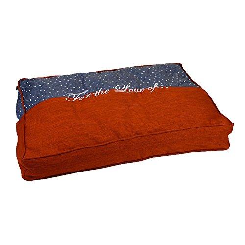 Designed by Lotte Rest Cushion Dog Basket Tyda, 100 x 70 x 15 cm, orange