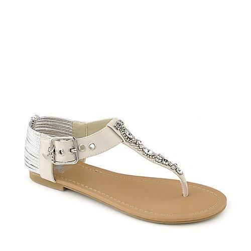 Shiekh Womens GO-S OFF.WHITE Gladiator Sandals - Size 5.5