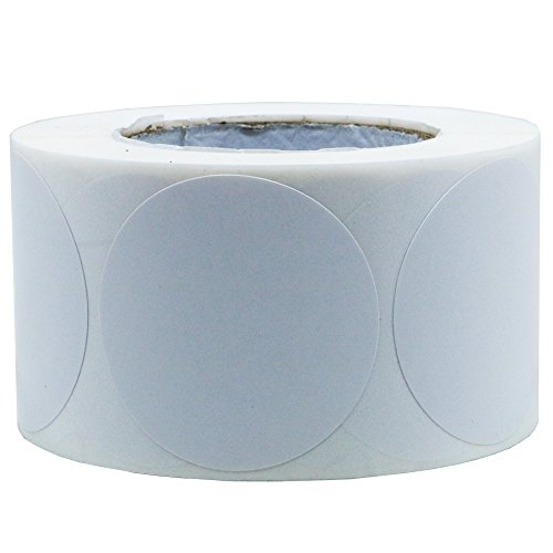 (Hybsk White Color Coding Dot Labels Round Semi Gloss Paper Stickers Adhesive Label (1.5 Inch))