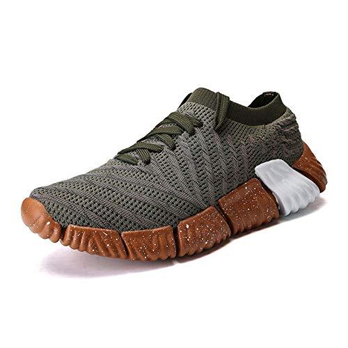 De Hommes Respirant Décontractées Gailmontan Chaussures 1 Noirâtre Paire Anti Tissu 43 Vert Volant Sport dérapants wYEqIa