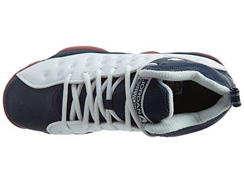 Jordan Jumpman Team II BG Boys Basketball-Shoes 820273 White/Mid Navy-gym Red-metallic Gold
