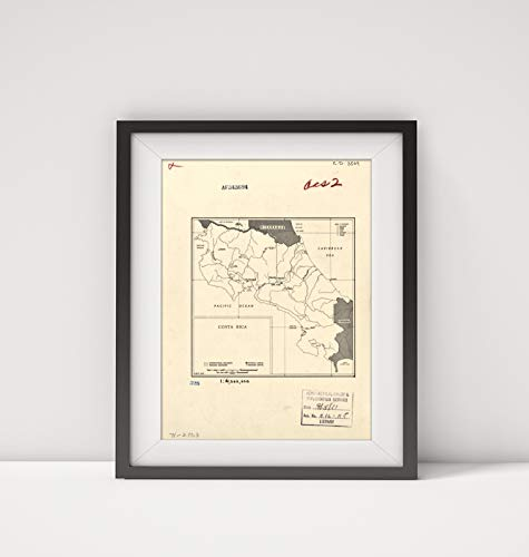 (1951 Map Title: Costa Rica. 5-51 Subject: Costa Rica, Outline and Base Map Size: 18 inches x 24 inch)