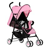 WDXIN Kid's Stroller Pushchair EVA Foam Shock Absorber Wheel Side Double Layer Design Applicable Age: 0-6 Months, 6-12 Months, 1-3 Years Old,C