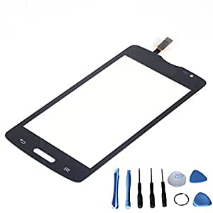 Front Touch Screen Glass Digitizer For LG Series III L80 D381 with Free tools (Not include LCD) (Black (Single SIM version))