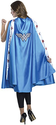 Adult Super Hero Costumes (Rubie's Costume CO Women's DC Superheroes Deluxe Wonder Woman Cape, Multi, One Size)