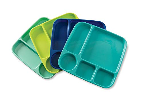 Nordic Ware 69600 Meal Trays, Set of 4, Coastal Colors