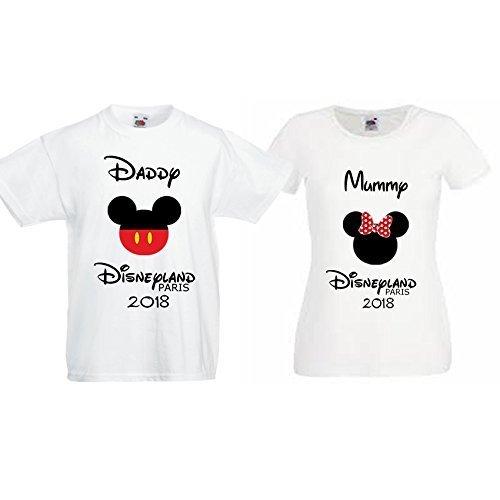 c39457efd Disneyland Paris Personalised Family T shirts: Amazon.co.uk: Handmade