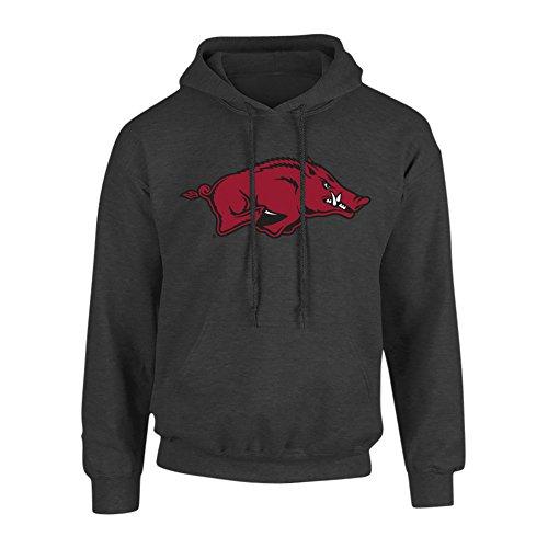 Elite Fan Shop Arkansas Razorbacks Hooded Sweatshirt Heather Gray - XL