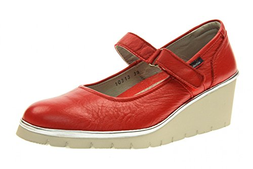 Rojo 10313 Bailarines Las Zapatos Cuña Callaghan Mujeres De TwYqa0a