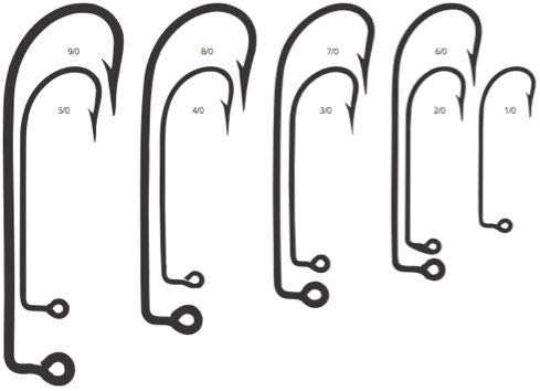 Mustad O'Shaughnessy 90 Forged Eyed Jig Hook (100 Pack), Duratin, Size 9/0