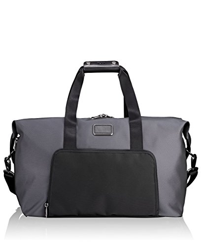 Tumi Alpha Double Expansion Travel Satchel Duffel Bag, Pewter, One Size