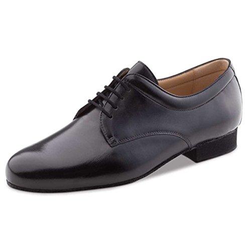 Werner Kern–Hombre Zapatos de baile 28048–Piel Negro–Con Plantilla