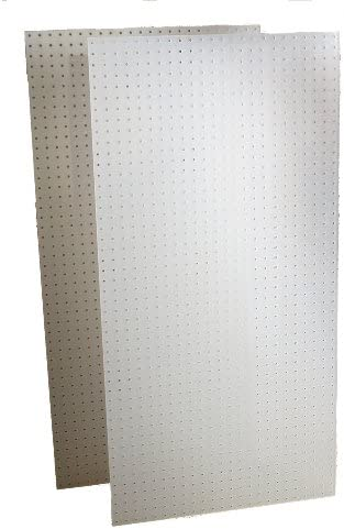 Renewed Hole Spacing Triton Products DB-2 Two DuraBoard White Polypropylene Pegboards 24-Inch W by 48-Inch H by 1//4-Inch D with 9//32-Inch Hole Size and 1-Inch O,C