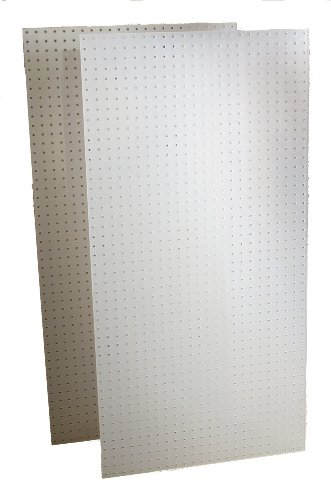 Plastic Pegboard - Triton Products DB-2 Two DuraBoard White Polypropylene Pegboards 24-Inch W by 48-Inch H by 1/4-Inch D with 9/32-Inch Hole Size and 1-Inch O,C, Hole Spacing