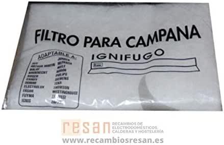Universal - Filtro espuma campana extractora 114x47: Amazon.es: Bricolaje y herramientas