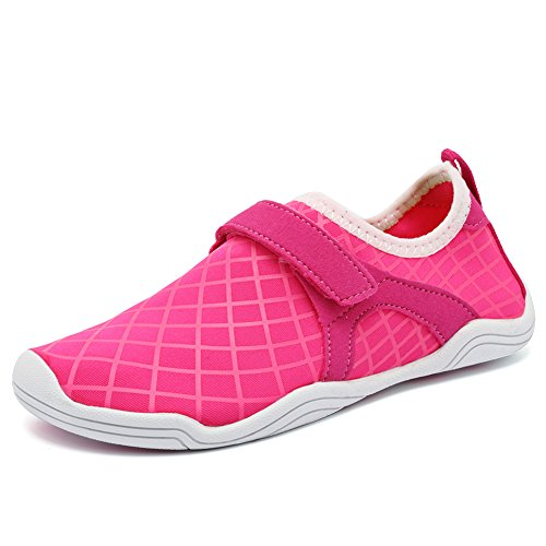 CIOR Fantiny Boys & Girls Water Shoes Lightweight Comfort Sole Easy Walking Athletic Slip on Aqua Sock(Toddler/Little Kid/Big Kid) F.pink