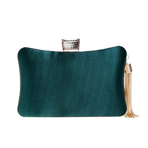 Evening Imitation Green Bag GROSSARTIG Bag Dress Silk Ladies Banquet Evening Bag f1wqCxO