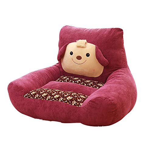 Armchairs FSSFY Animals Baby Armrest, Soft Comfortable Beanbag Boy Girl Chair Sofa Mini Couch 5 Colors (Color : Burgundy)