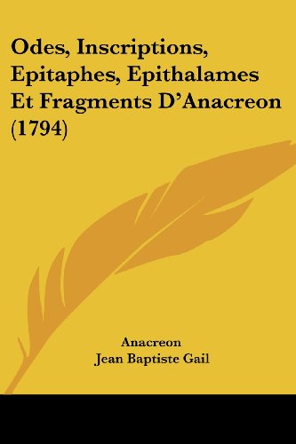 Odes Et Fragments [Pdf/ePub] eBook