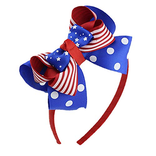 Willow Ruffle Shirt - Willow S Happy Independence Day Bow Headband Tiara Party Decorations Snow Head Hoop