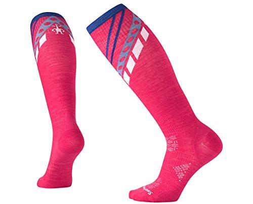 SmartWool Women's PhD Ski Ultra Light Pattern Socks (Potion Pink) Large (Womens Ski Smartwool Phd)