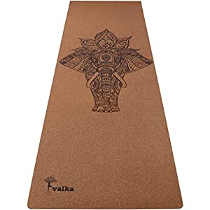 Cork Yoga Mat Non Slip, Eco Friendly & Odor Free – Beautiful Designer Travel Yoga Mat with Carry Strap – Best Bikram…
