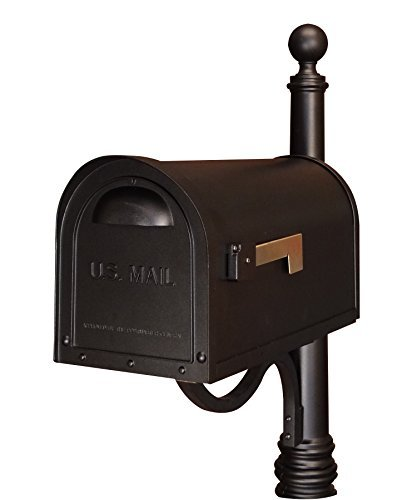 (Special Lite Products SCC-1008-BLK Classic Curbside Mailbox, Black)