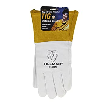 Tillman X Large 14 12 Pearl And Gold Premium Top Grain Kidskin Unlined Tig Welders Gloves With 4 Cuff And Kevlar Thread Locking Stitch Carded Welding Safety Gloves Amazon Com Industrial Scientific
