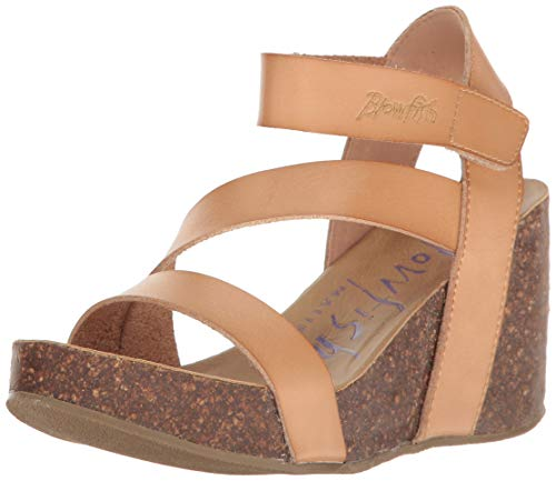 Blowfish Women's Hapuku Wedge Sandal, Nude Dyecut, 7.5 Medium US