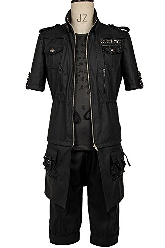 Final Fantasy FF15 XV Noctis Lucis Caelum Noct Jacket Hoodie Cosplay Costume Outfit (Female:Large, (Final Fantasy Merchandise)