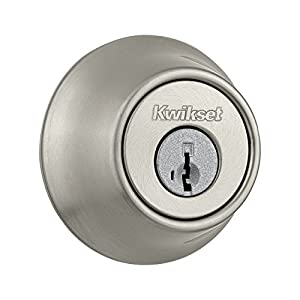 1. Kwikset Single Cylinder Deadbolt with SmartKey, Satin Nickel Finish