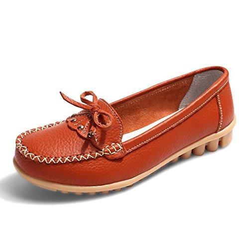 primavera autunno con Scarpe maternità in dimensioni scarpe casual donna scarpe piselli scarpe Arancia scarpe da CAI grandi estate antiscivolo 2018 pelle piselli madre WvdqCxwR8X