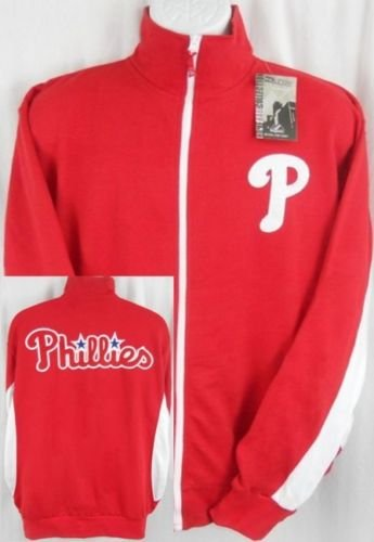 - Majestic Philadelphia Phillies MLB Licensed Embroidered Track Jacket Red Adult Tall Sizes (2XL)
