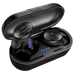 Wireless Headphones,Wireless Earbuds XG13 TWS Bluetooth 5.0 Noise Reduction Wireless Earphones In-Ear Sports Earbuds - Black