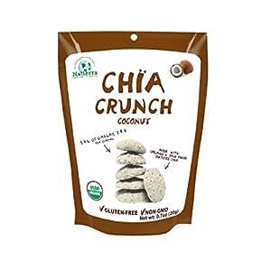 Natierra, Organic and Fair Trade Chia Crunch, Coconut, 0.7 Ounce