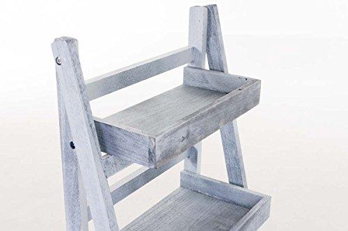 CLP Estantería Escalera Dorin con 4 Estantes I Estantería Plegable en Estilo Rústico I Estantería Decorativa de Madera I Color: Gris: Amazon.es: Hogar