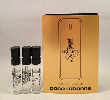 3 Paco Rabanne 1 One Million Men EDT .05 Oz/1.5 Ml Each (1.5 Ml Edt)